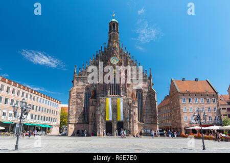 The Frauenkirche (Church Of Ladies) In Nuremberg, Bavaria, Germany - Stock Photo