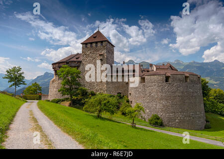 Vaduz Castle, The Palace And Official Residence Of The Prince Of Liechtenstein - Stock Photo
