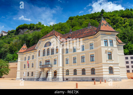 Old Building Of Parliament In Vaduz, Liechtenstein - Stock Photo