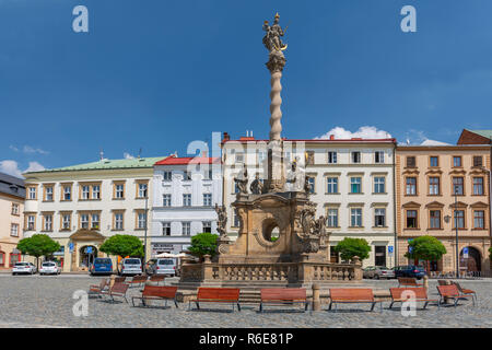 Marian Plague Column On Dolni Namesti In Olomouc, Moravia Czech Republic - Stock Photo