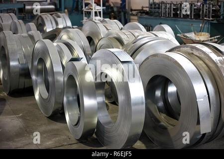 sheet metal rolls - Stock Photo