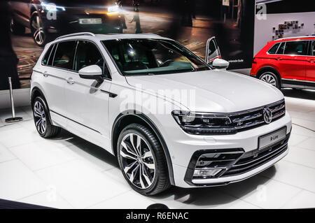 FRANKFURT - SEPT 2015: Volkswagen VW R-Line presented at IAA International Motor Show on September 20, 2015 in Frankfurt, Germany - Stock Photo