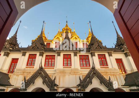 Wat Ratchanatdaram (Metal Temple) In Bangkok, Thailand - Stock Photo