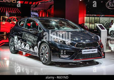 FRANKFURT - SEPT 2015: Kia pro ceed GT presented at IAA International Motor Show on September 20, 2015 in Frankfurt, Germany - Stock Photo