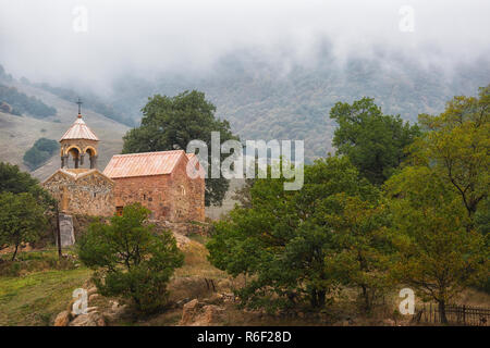 Old church in Armenia in cloudy weather - Stock Photo