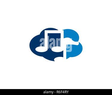 cloud music logo - Stock Photo