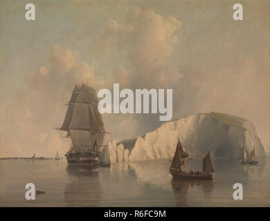 Off the Needles, Isle of Wight by Edward William Cooke, 1845..jpg - R6FC9M  - Stock Photo