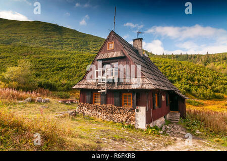 Mountain Hut In Gasienicowa Valley, Tatra Mountains, Poland - Stock Photo