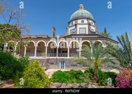 Church Of The Beatitudes, Roman Catholic Church Located By Sea Of Galilee Near Tabgha And Capernaum At The Mount Of Beatitudes, Where Jesus Is Believe - Stock Photo