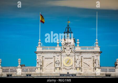 royal palace of madrid. royal palace of madrid. spain - Stock Photo