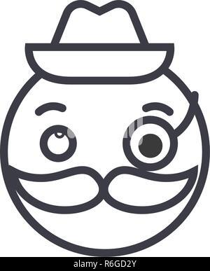 Smoking pipe line icon Stock Vector Art & Illustration