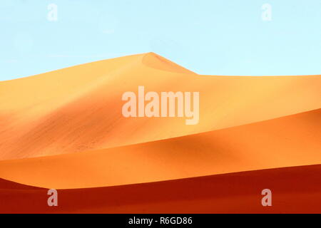 color variations of the sand dunes of sossusvlei in namibia - Stock Photo