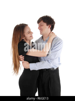Couple lovingly embracing each other - Stock Photo