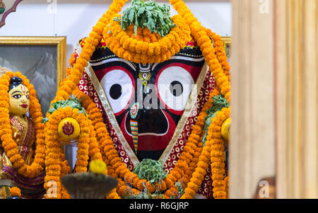 Lord Jagannath at a Temple in Puri - Stock Photo