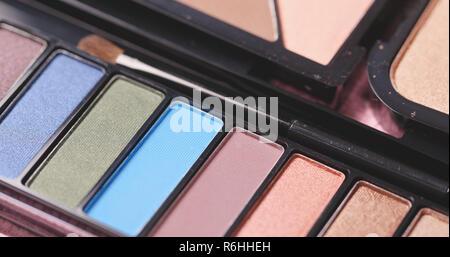 Professional makeup eyeshadows palette - Stock Photo