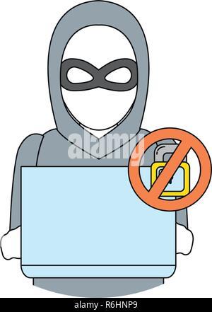security system cartoon - Stock Photo