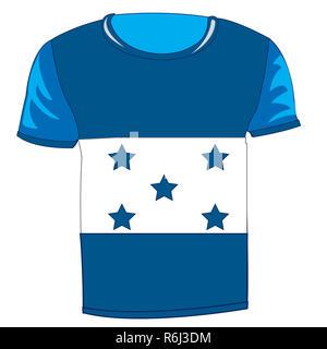 T-shirt flag Honduras - Stock Photo