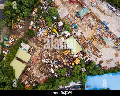 Top view of waste garbage - Stock Photo