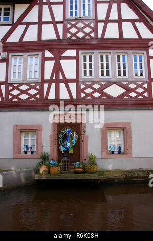 half-timbered house on the queich in annweiler