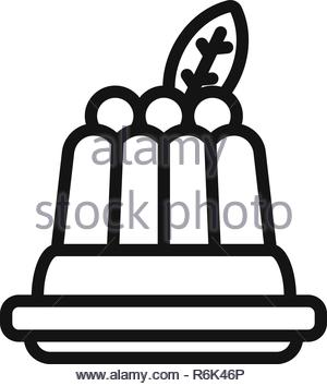 Pudding vector icon - Stock Photo