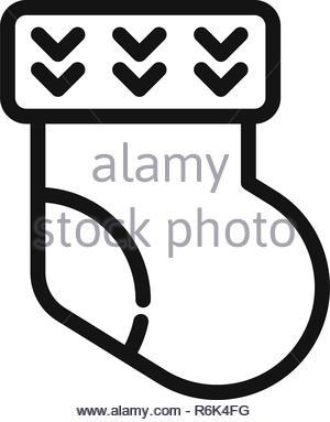 Sock vector icon - Stock Photo
