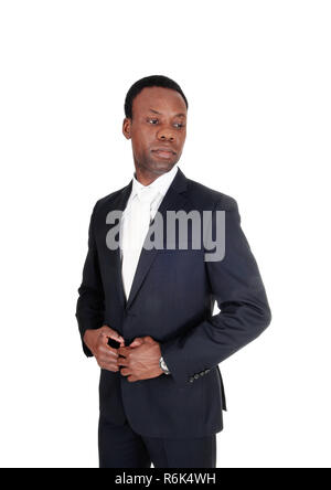 African business man in portrait image - Stock Photo