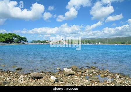 der Ort Osor auf der Insel Cres,Adria,Kvarner Bucht,Kroatien - Stock Photo