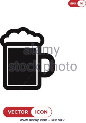 Beer jar vector icon - Stock Photo