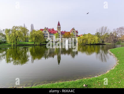 Building of the Polytechnic Institute in Wroclaw, Poland, Europe. - Stock Photo