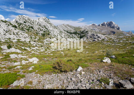 Tulove grede rocks on the Velebit Mountain, Croatia - Stock Photo
