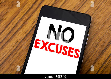 no excuses  stamp on white background - Stock Photo
