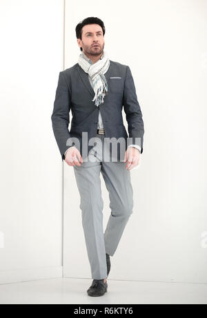 full height.confident business man - Stock Photo