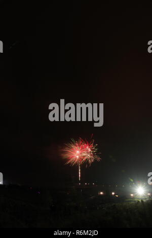 Aberdeen Fireworks Display on Bonfire Night on Beach Boulevard. 5th November, 2018. Scotland, UK. - Stock Photo