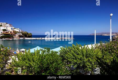 Seaview at Bali port in Bali village, Crete island, Greece - Stock Photo