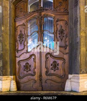 Old door in the Prague - Stock Photo