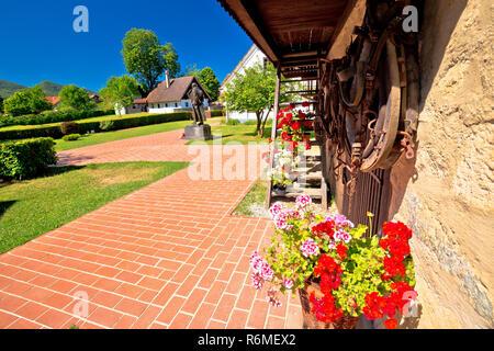 Village of Kumrovec and Josip Broz Tito birth house view - Stock Photo