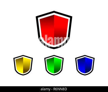 shield blank - Stock Photo