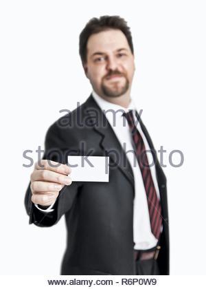VP 6228818, BUNDESREPUBLIK DEUTSCHLAND, BAYERN, 06.06.2010,   A handsome young man gives his business card, Modelrelease,   [Copyright notice: Markus  - Stock Photo