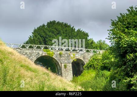 Old bridge in Corfe - Stock Photo
