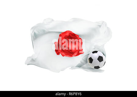 The national flag of Japan. FIFA World Cup. Russia 2018 - Stock Photo