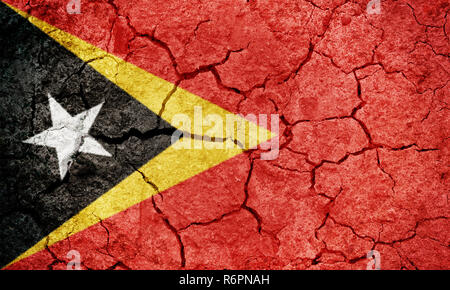 Democratic Republic of East Timor flag - Stock Photo