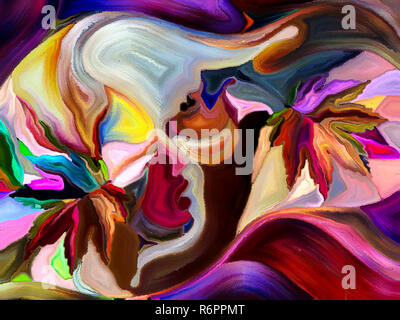Unfolding of Color Division - Stock Photo