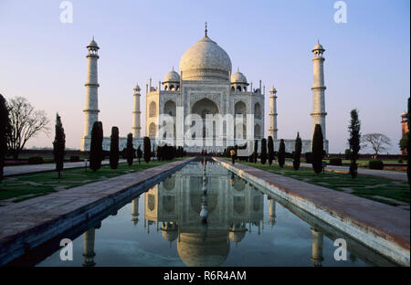 Taj Mahal (1631-1653 A .D.), Agra, Uttar Pradesh, India - Stock Photo