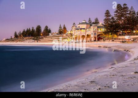Sunset at Cottesloe Beach, Western Australia. - Stock Photo