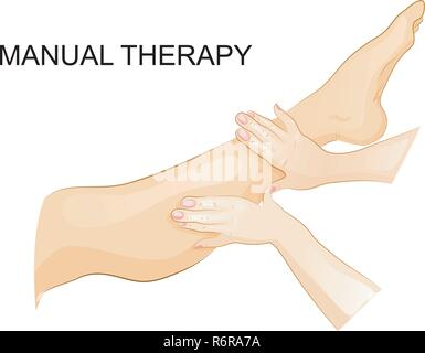 vector illustration of manual therapy. for medical publications  - Stock Photo