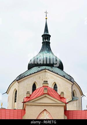 Church of St. John of Nepomuk  - Zelena Hora - Stock Photo