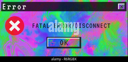 Gradient digital abstract background fatal error disconnect - Stock Photo