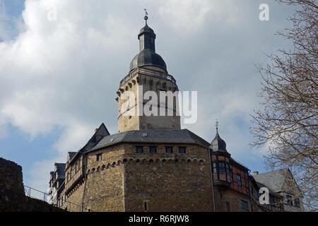 castle falkenstein in the harz - Stock Photo