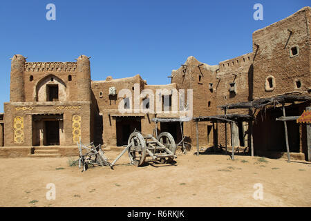 settlement since the Golden Horde with clay buildings - Stock Photo