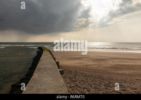 Le Havre de la Gachere breakwater at Olonne-sur-Mer (Vendee, France)